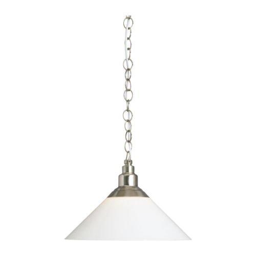 Light Glass Childrens Pendant (IKEA Pendant lamp, Nickel Plated, Glass)