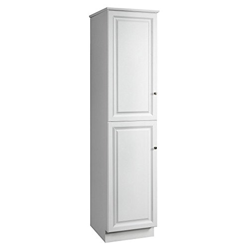 Design House 539700 Wyndham Ready To Assemble 2 Door Linen Cabinet White 19 Inches Wide By 84