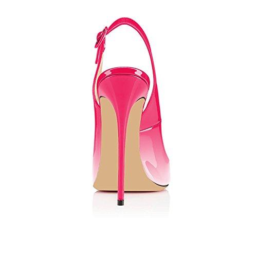 Scarpe Sandali multicolore Classici Rosa Col Peep Col Tacco uBeauty da Scarpe Sandali Donna Sandali Scarpe Toe 120MM Classiche Tacco IxRHwUzHqa