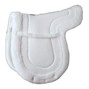 Pad Show - Centaur Airstream Corona Saddle Pad - Color:White Size:A/P