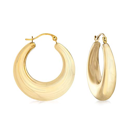 Ross-Simons Andiamo 14kt Yellow Gold Graduated Oval Hoop Earrings