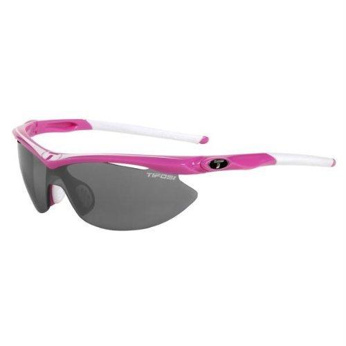 Tifosi Optics Slip Sunglasses Neon Pink/Smoke-AC Red-Clear, One Size - - Tifosi Sunglasses Price