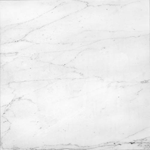 Instant Granite Italian White Marble Tile Film 3' x 15' Self Adhesive Vinyl Laminate Counter Top Contact Paper Faux Peel and Stick Self Application ()