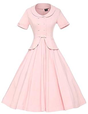 GownTown Women's Vintage 1950s Retro Rockabilly Prom Dresses