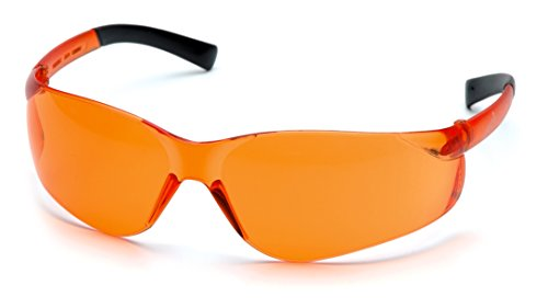 Pyramex Ztek Orange Lens Safety Glasses One Pair]()