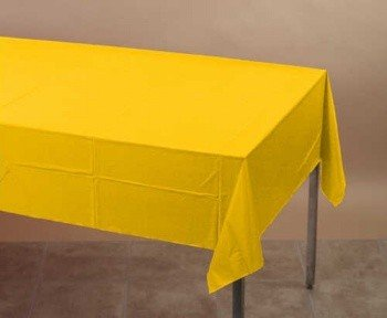 School Bus Yellow Tissue/Poly Tablecover 54'' x 108'' Solid 24ct