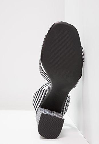 Tacco Even A Di Blocco Similpelle Scarpe Alta Sandalo Aperto Cinturino Con Sandali Qualità In Alto bianco Da Nero Caviglia amp;odd Donna Sandaletti qXwrn8XaT
