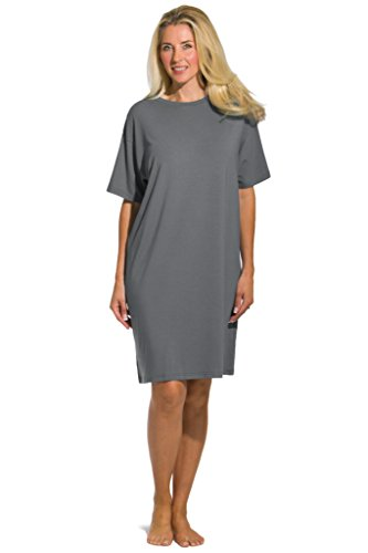 Fishers Finery Women's Tranquil Dreams Sleep Tee  Comfort Fit, Gray, Plus]()