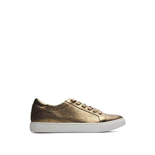 Kenneth Cole New York Kvinna Kam Mode Sneaker Guld