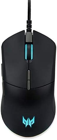 Acer Predator Cestus 330 Gaming Mouse with PixArt 3335 Sensor, Adjustable DPI Settings, 16.8 Million RGB Color Lighting Combinations & NVIDIA Reflex