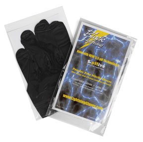 Atlantic Safety Products ASPBLXL Black Lightning Gloves, Extra Large, Pack of 100 from Atlantic Safety Products