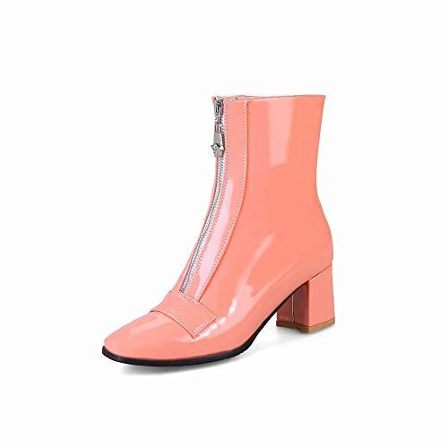 34 rosa Inglesi Alto 44 Caldi Con Da Stivali 34 stivali Scarpe Donna Tacco Cerniera Ig spessi ISqZwI