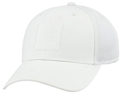 Three Stripe Cap - adidas Men's Arrival Snapback Cap, white, One Size