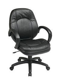 Deluxe Faux Leather Managers Chair Black