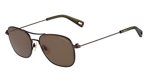 G-Star Raw GS101S Aviator Sunglasses, Brown Semi Matte, 56 - Star Sunglasses G Raw