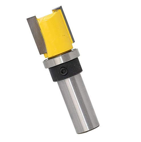 Autoly 2 Flute 1/2 Inch Shank Top Bearing Flush Trim Pattern Router Bit Woodworking Milling Cutter Tool (1/2x3/4x20) ()