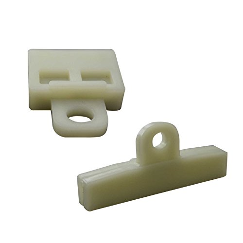 Bross BWR5019+BWR5020FBA 2 Pieces Window Regulator Glass Channel Slider Sash Connector Clips for Toyota ()
