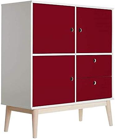 Lámina adhesiva para muebles, color burdeos, lámina autoadhesiva de PVC para armarios, mesas, puertas, color rojo: Amazon.es: Bricolaje y herramientas