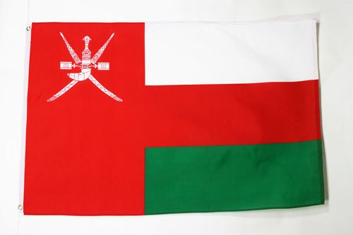 OMAN FLAG 3' x 5' - OMANI FLAGS 90 x 150 cm - BANNER 3x5 ft - AZ FLAG