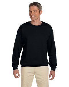 Plain Crewneck Sweatshirt (Gildan G180 Adult Sweatshirt - Black - Medium)
