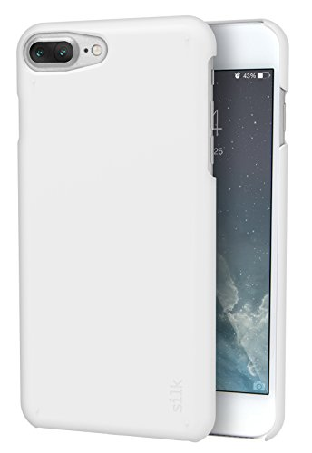Silk iPhone 7 Plus/8 Plus Slim Case - Snap Shell for iPhone 7+/8+ [Ultra Slim Fit Soft-Touch Protective Cover] - Pearl White ()