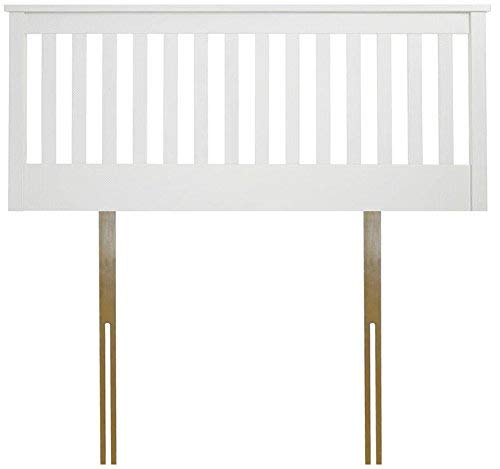 White 3ft single Save on Goods White,Oak finish solid wood wooden headboard bed head end board (White, 3ft single)