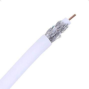 300m Cable Coaxial RG59 Cobre-Aluminio Antena TV Blanco ...