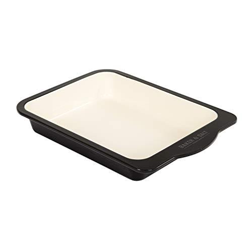 (Baker & Salt Two-Tone Enamel 12 Inch Baking)