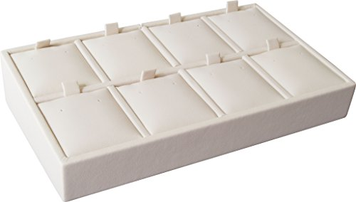 "Gunther Mele DA28E08PESB 8 Pierced Earring Tray, 6 3/4"" x 4"" x 1 1/2"" Size, Beige (Pack of 2)"