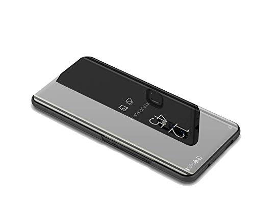 DIFE Ultra Delgado Translúcido Espejo con Función Kickstand Flip Funda Carcasa Case para XiaoMi Mi A2 Lite/RedMi 6 Pro -...