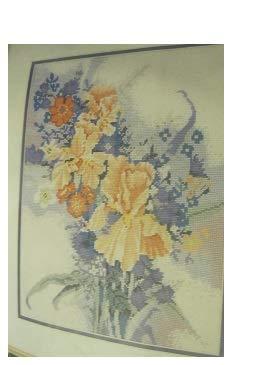 Elsa Williams Morning Flowers Needlepoint Picture Kit