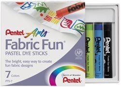 (Bulk Buy: Pentel Fabric Fun Pastel Dye Sticks 7/Pkg Assorted Colors PTS-7 (6-Pack))