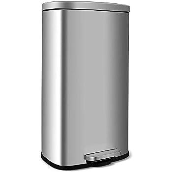 Amazon.com: bestoffice 4 Galón/15L Paso Trash Can cocina de ...