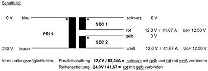 2x9V 1x18V RSO-826007 Sedlbauer Transformateur torique 30VA 230V