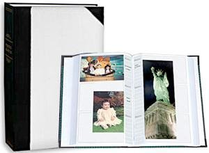 Pioneer Photo Albums JBT46-WHA Ledger LE Memo Album 4X6 3-UP 300 Photo White Alternate
