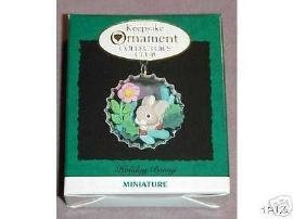 Holiday Bunny 1994 Collectors Club Miniature Hallmark Keepsake Ornament