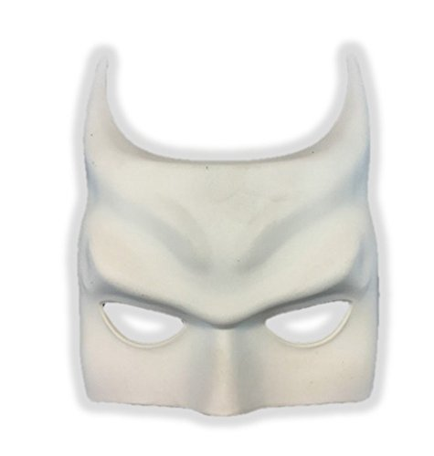 Batman Diy Costume (Paint Your Own Batman Inspired White Half Mask Costume Decor Crafts Bat)