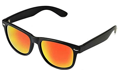 WebDeals Retro - Sunglasses Classic 80's Vintage Style Design Polarized or Standard Lens (Black Matte, Red Revo Fire)... -