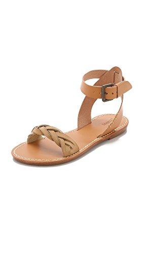 Soludos Women Braided Ankle Strap Leather Flat Sandal Vachetta
