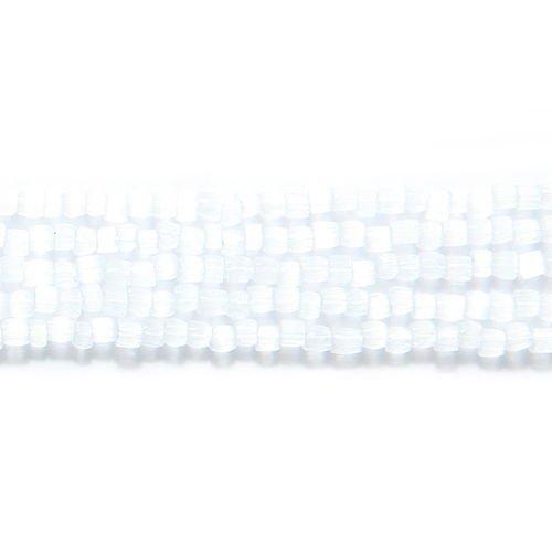(Preciosa Ornela Czech 3-Cut Style Seed Glass Bead, Size 9/0, Satin White)