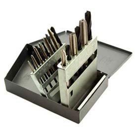 Hss Import Tap - Tap & Drill Sets, HSS in Metal Index, 18 Pc. Set National Coarse
