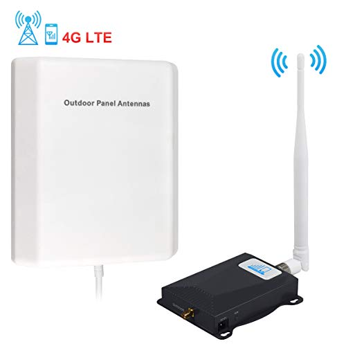 Cell Phone Signal Booster AT&T 4G LTE Cell Phone Booster for Home HJCINTL FDD High Gain 700Mhz Band 12/17 Mobile Phone Signal Repeater Booster Kits