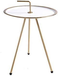 Goedkoop DuNord Design bijzettafel metaal rond 42 cm wit goud gjV9OUU