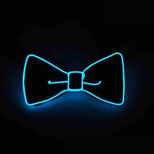 ieenay Moda Uomo LED El Filo Cravatta Luminosa al Neon Lampeggiante Luce Farfallino per Club Cosplay Decorazione del Partito di Sera