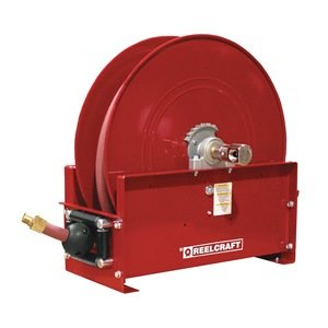 Hose Reel, Spring Return, 3/4 In ID x 50Ft by Reelcraft