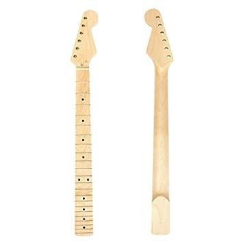 kenthia guitarra eléctrica mástil de arce 22 trastes para ST Strat de repuesto: Amazon.es: Instrumentos musicales