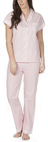Mujer / mujer tejido 100% Algodón Corto Pijama / Set Pijama Pink Spot Full Length