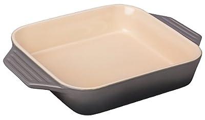 "Le Creuset Stoneware 2.2 qt. [9.5""] Square Dish - Oyster"