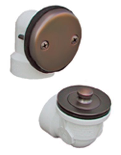 Plumbest Final Touch B07-11WB Shower and Bath Standard Two-Hole Schedule 40 Lift and Turn Half Kit, Old World Bronze by Jones - Schedule 40 Lift Hole
