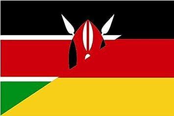U24 Aufkleber Kenia Deutschland Flagge Fahne 15 X 10 Cm Autoaufkleber Sticker Auto